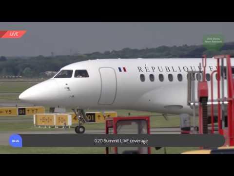 Germany: French President Emmanuel Macron arrives at G20 (07.07.2017)