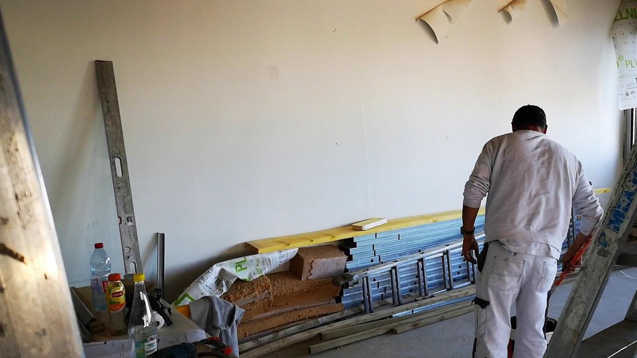 Chantier Renovation Agence Aunea Peinture Plafond Osb Youtube
