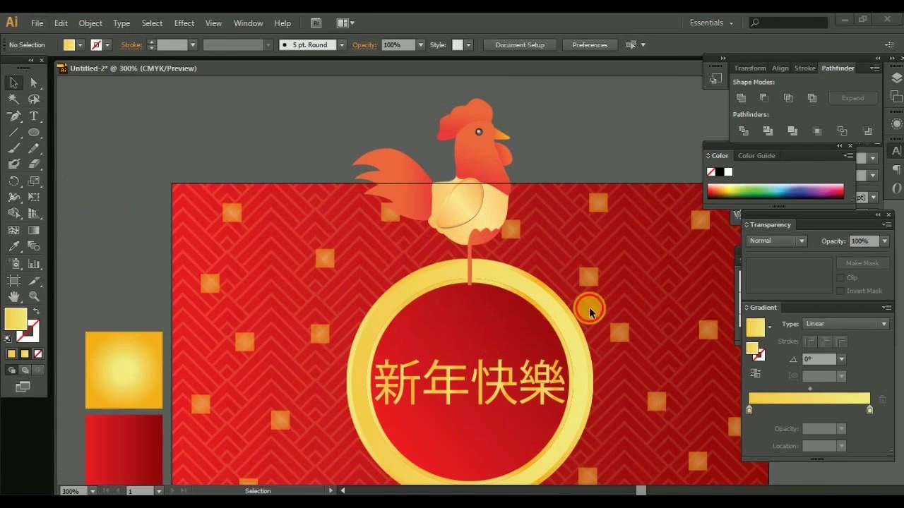 Thiết kế Background Vector năm mới bằng Ai- Học illustrator căn bản