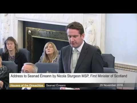 Aodhán's response to address to Seanad Éireann by Nicola Sturgeon First Minister of Scotland