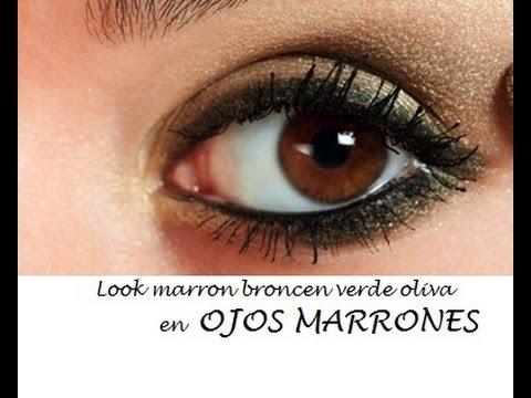 Maquillaje marr n y verde para ojos marrones youtube for Sombras de ojos para ojos marrones