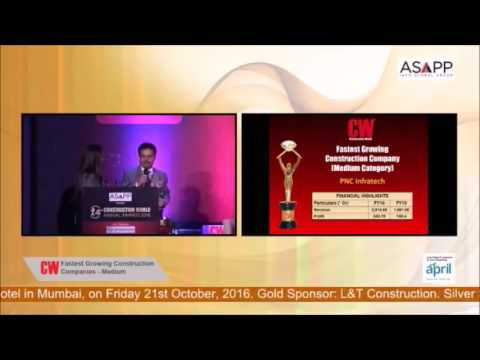 14th CW Annual Awards 2016 - PNC Infratech