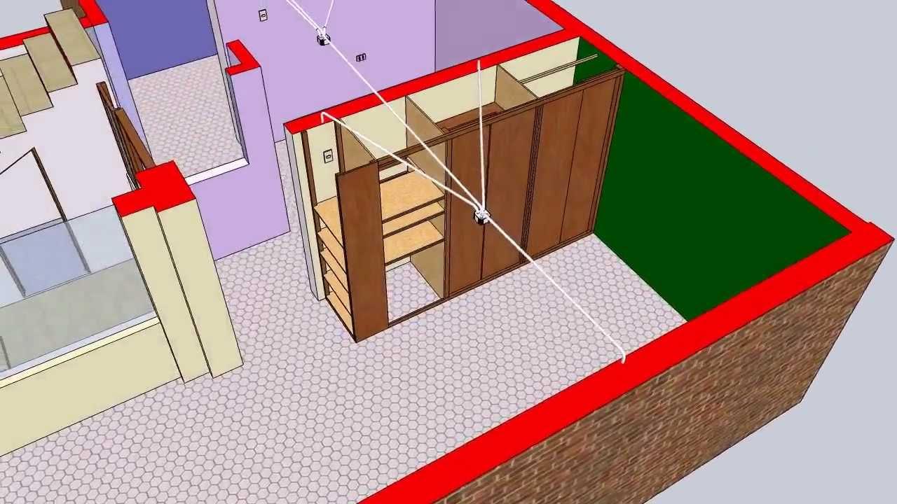 Segunda pr ctica de sketchup con instalaciones el ctricas for Programa para construir casas 3d