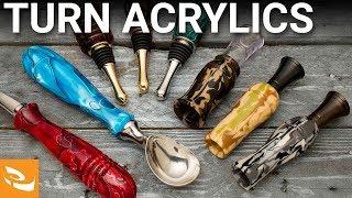 Turning and Polishing Acrylics on Your Lathe (Woodturning How-to)