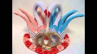 Орига́ми-сложенная бумага-двойной лебедь(Поделки Взрослых,своими руками,поделки,самоделки,материалы для поделок,интересно для взрослых, осенние..., 2015-11-25T16:17:19.000Z)