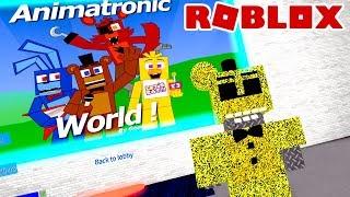 VIREI UM ANIMATRONIC DO FNAF no Roblox Animatronic World