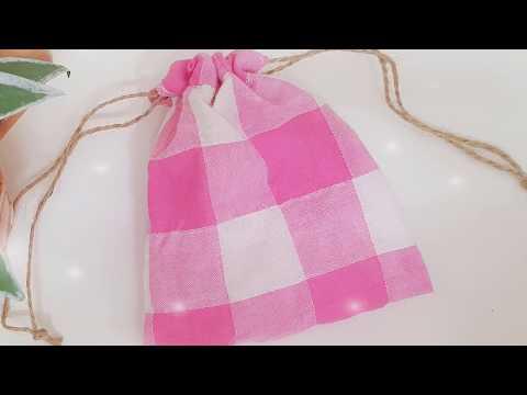 May Túi Vải Rút Đơn Giản - How To Sew Drawstring Bags Simple - DIY Drawstring Bag Tutorial   Foci