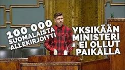 Miksi ulkomaalaisia raiskaajia suojellaan enemmän kuin suomalaisia? Kansalaisaloite-puhe 25.9.2019