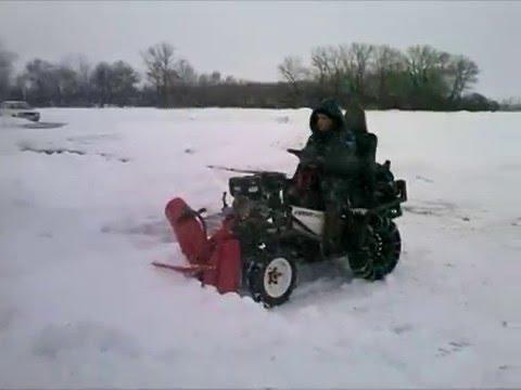 Снегоуборщик к минитрактору своими руками