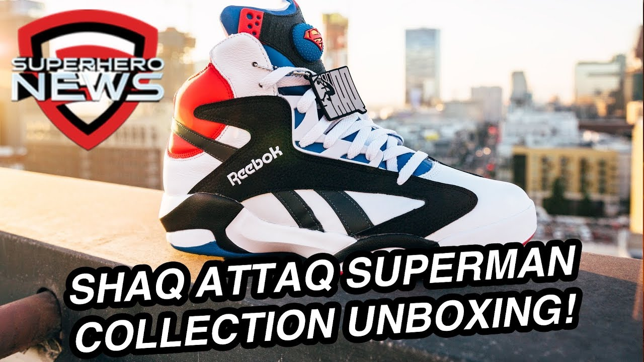 ba3df5d3996a90 Shoe Palace  Shaq Attaq  Superman Collection - Unboxing and Review.  Superhero News