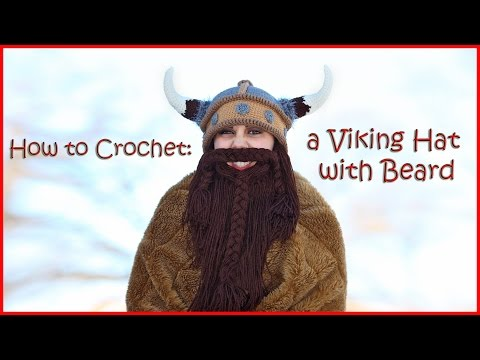 How to Crochet a Viking Hat with Beard