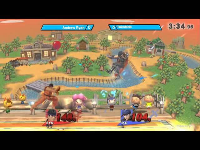 FD2 Smash 4: Andrew Ryan (Ryu) vs Takahide (Ike) Winners Bracket