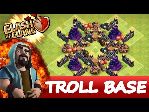 Clash Of Clans | EPIC WIZARD TOWER TROLL BASE |