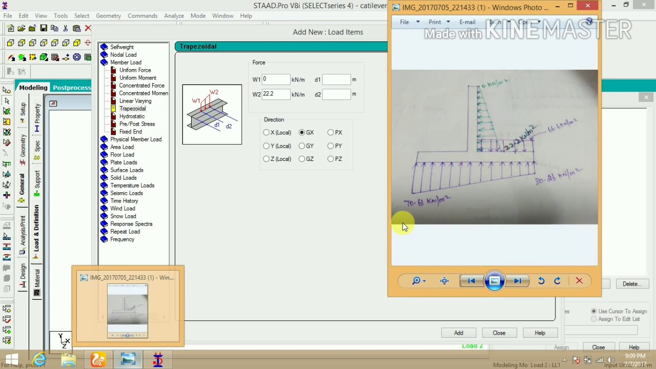 How to design cantilever retaining wall in STAADproo at Tamil