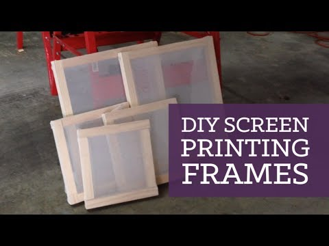 DIY screen printing frames | CharliMarieTV - YouTube