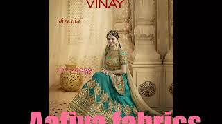 Aafiya fabrics new collections....of bridal wedding lehnga from vinay fashions sheesha princess