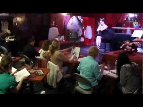 Artists draw at Dr Sketchy's Anti-Art School San Diego
