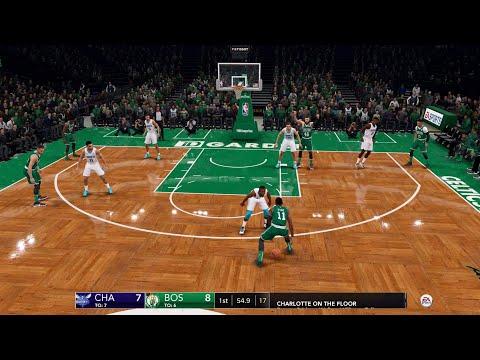 NBA LIVE 19 - Charlotte Hornets vs Boston Celtics - CPU SIM Full Game PS4 PRO - HD