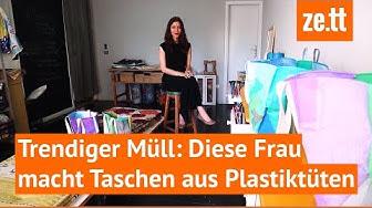 Diese Frau macht Taschen aus Plastiktüten