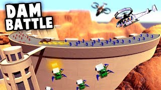 Epic DAM BATTLE With SPIDER MECHS! Another NEW Official MAP! (Ravenfield Update Gameplay)