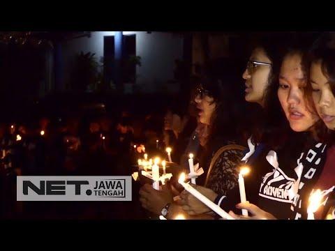 Mahasiswa UKSW Gelar Doa Bersama Untuk Korban Gempa Dan Tsunami Di Sulawesi Tengah - NET JATENG