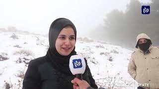 ثلوج متراكمة واغلاق طرق في جنوب الأردن - (10/1/2020)