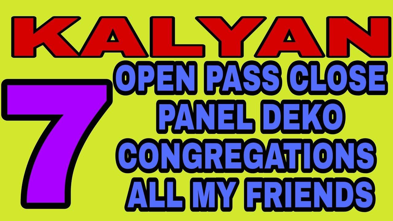 ((7)). OPEN PASS CLOSE PANEL DEKO CONGRATULATIONS