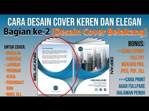 Contoh Cara Membuat Cover Keren dengan PowerPoint | Bagian Dua Cover Bel...