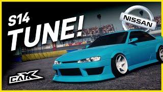 NEW S14 TUNE! Car X Drift Racing (Fujin SX - Ultimate Setup) 90 ADH