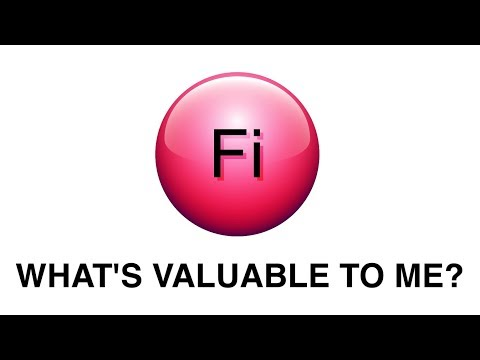 Fi: What is valuable to me?
