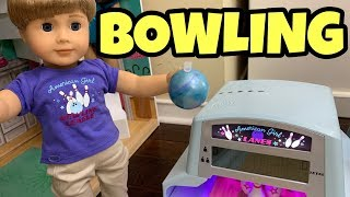 First Look American Girl Doll Bowling Alley