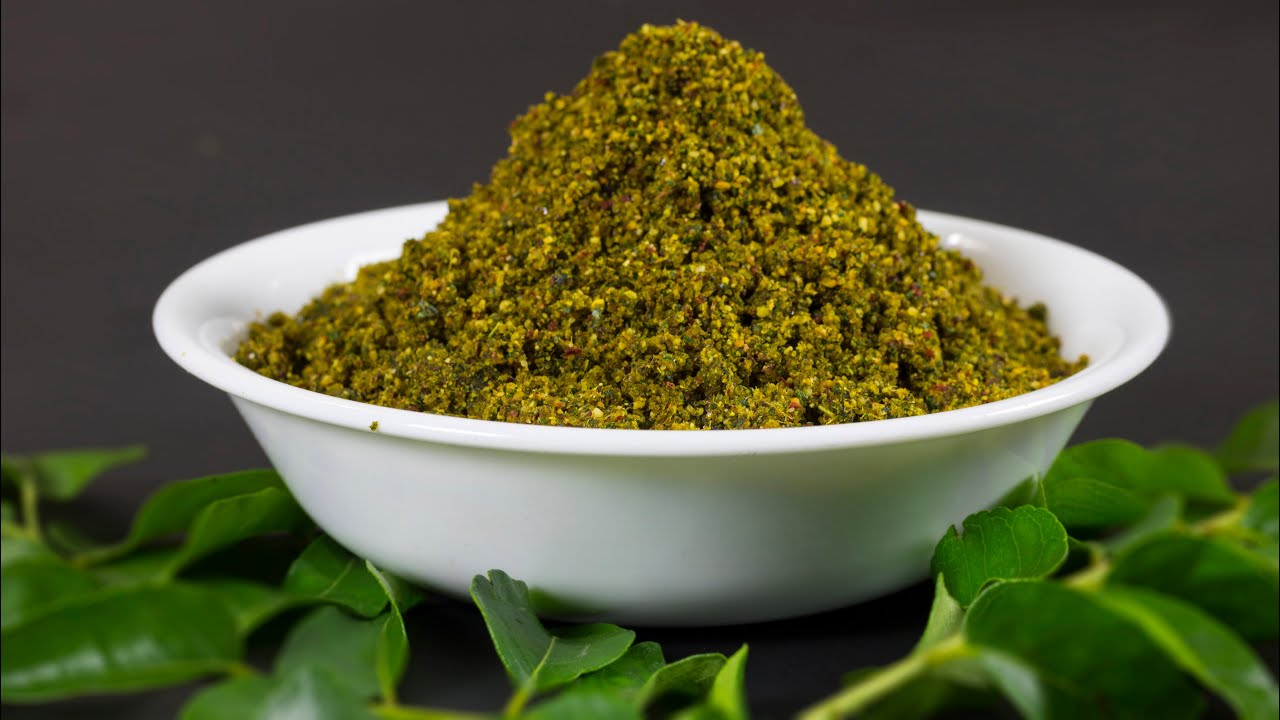 Curry Leaves Powder (Spicy) - YouTube