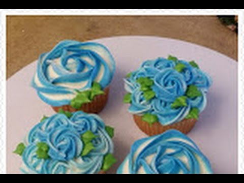 Easy Two Toned Ombre Rosette Cupcake Or Cake Youtube