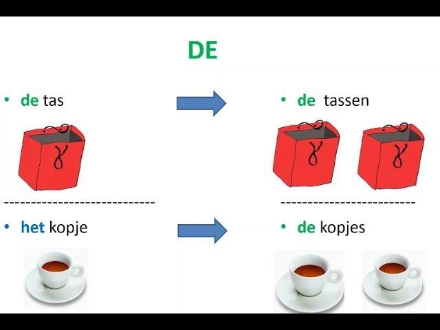 Nauka holenderskiego | Rodzajniki holenderskie DE, HET, EEN