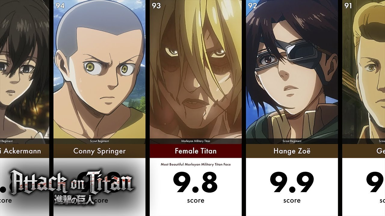 Most Handsome Beautiful Attack On Titan Faces With Hotiibeautii Youtube