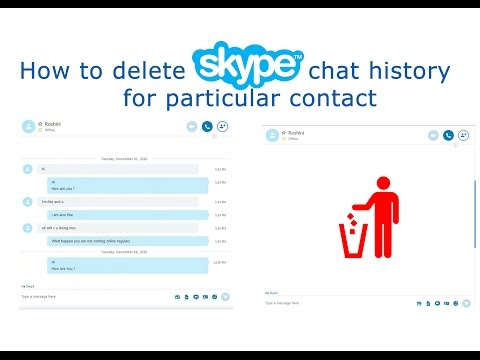 How To Delete Skype Chat History For A Particular Contact