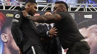 ANTHONY JOSHUA AND BIG BABY JARRELL MILLER GO AT EACH OTHER AT PRESS CONFERENCE!!