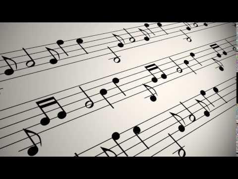 Musical Notation Background LoopVidevo