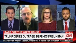 CNN׃ Ahmadiyya spokesperson @Harris Zafar responds to Donald Trump's call to Ban Muslims