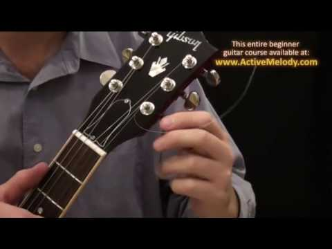 how to put new strings on an electric guitar hollow body youtube. Black Bedroom Furniture Sets. Home Design Ideas