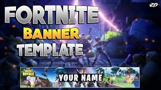 Fortnite Banner Template - Free To Use! ZD