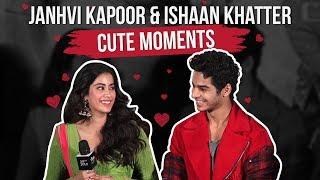 Jahnvi Kapoor & Ishaan Khatter cute moments   Dhadak   Pinkvilla   Ishaan & Janhvi
