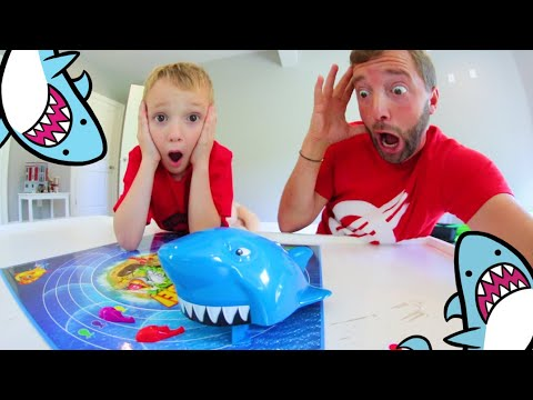 Father & Son PLAY SHARK CHASE GAME! / Swim Or Be Chomped!