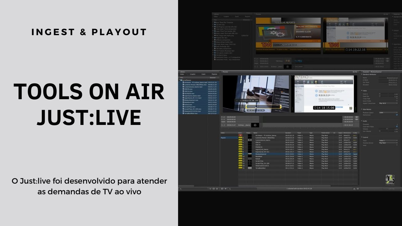 Tools on Air - Just:live - Playout