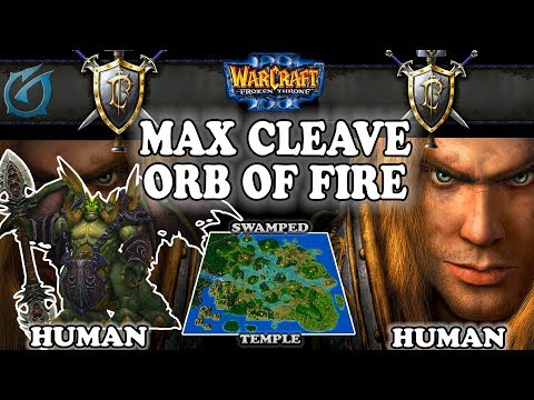 Grubby | Warcraft 3 TFT | 1.30 | HU v HU on Swamped Temple - Max Cleave + Orb of Fire