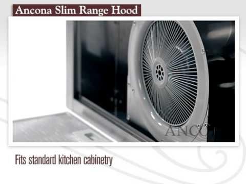 Ancona Slim Under-cabinet Range Hood - YouTube