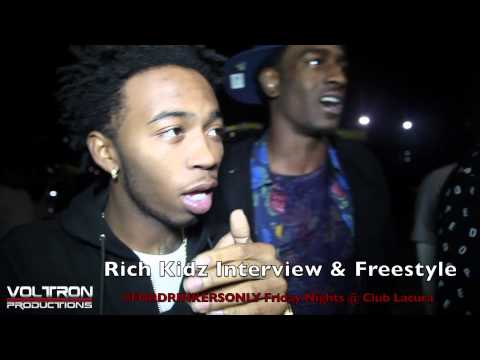 Rich Kidz Interview & Freestyle #FORDRINKERSONLY Friday Nights @ Club Lacura