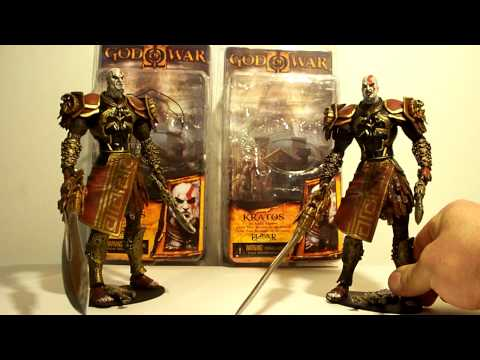Neca God Of War 2 Kratos Ares Armor Closed Open Mouth