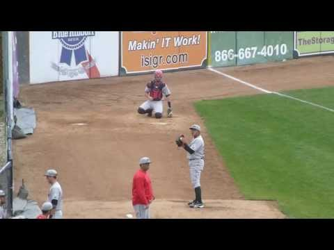 Julio Urias, 16-year old Dodgers prospect, throws 2 wicked pitches in bullpen