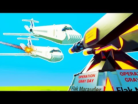 MOST POWERFUL FLAK CANNON SHOOTS DOWN FLEET OF LEGO JETS! - Brick Rigs Workshop Creations Gameplay
